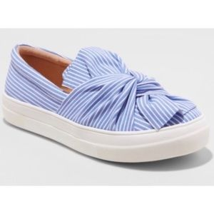 A New Day Blue Stripe Slip On Sneakers